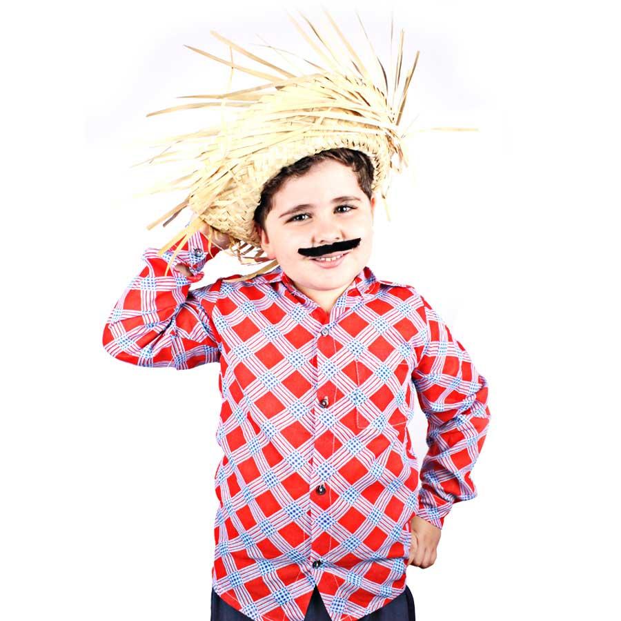 Chapéu de Palha Desfiado Infantil Masculino