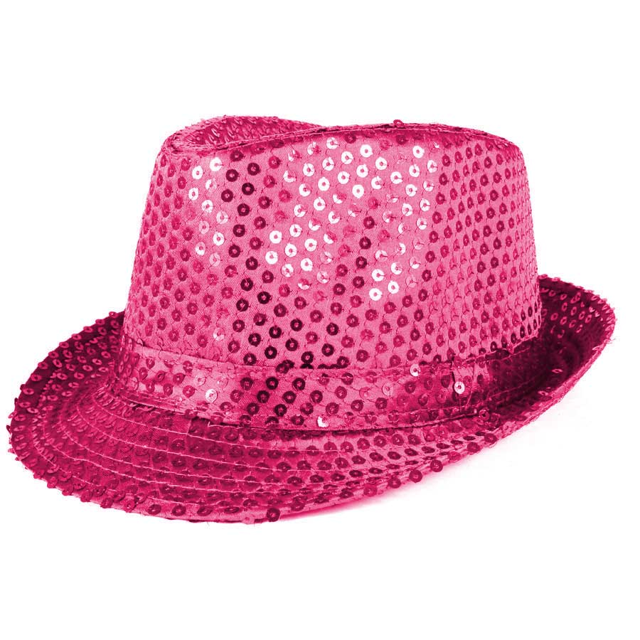 Chapéu Malandro Paetê Pink