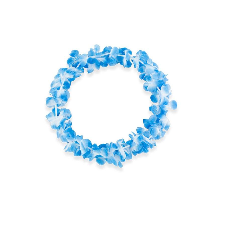 Colar Havaiano Azul Com Branco Un