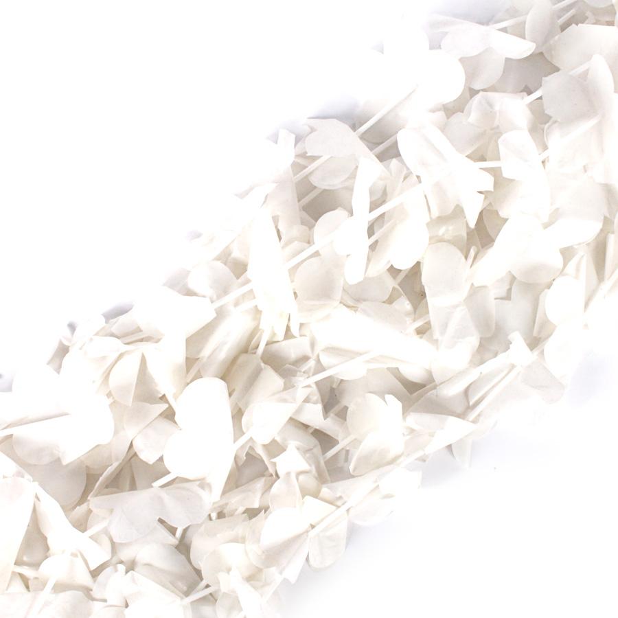 Colar Havaiano Branco Plástico