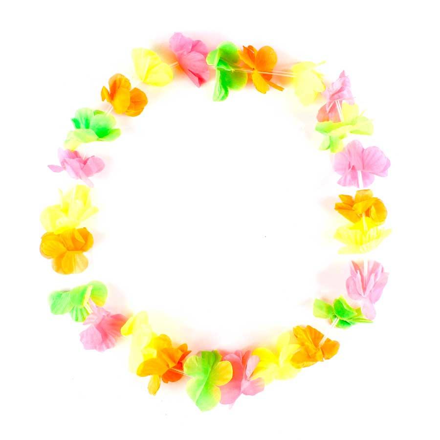 Colar Havaiano Tecido Colorido Fluorescente unidade