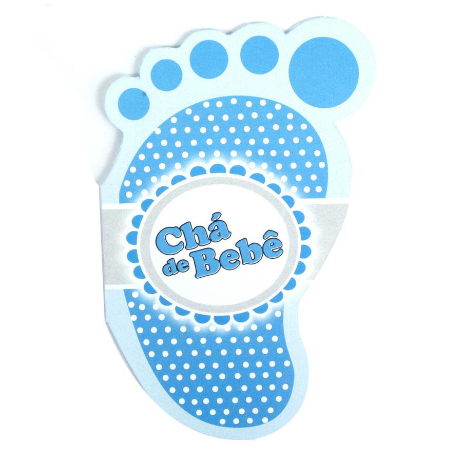 Convite Chá De Bebê Pé Azul Aluá Festas