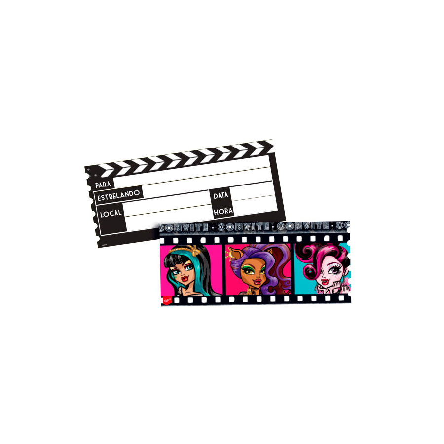 Convite Monster High 8Un