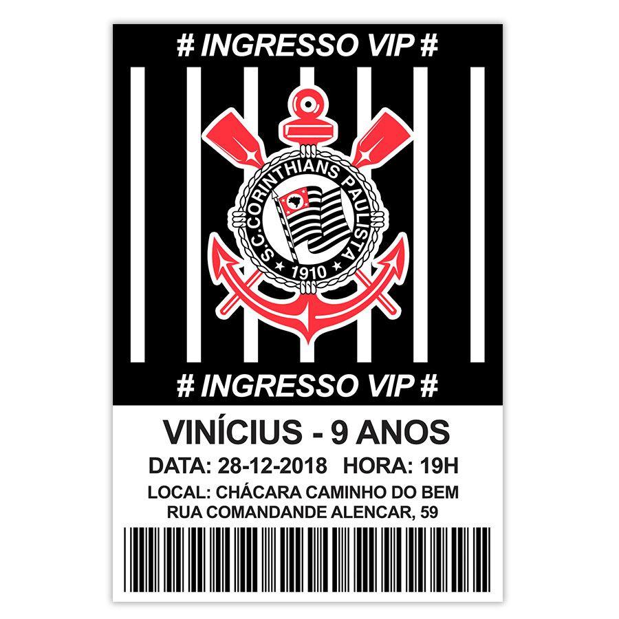 Convite Personalizado Corinthians 15x10