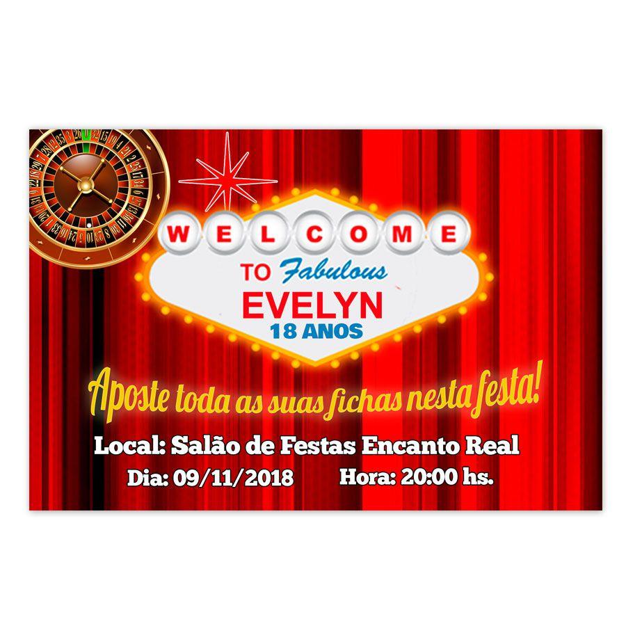 Convite Personalizado Las Vegas