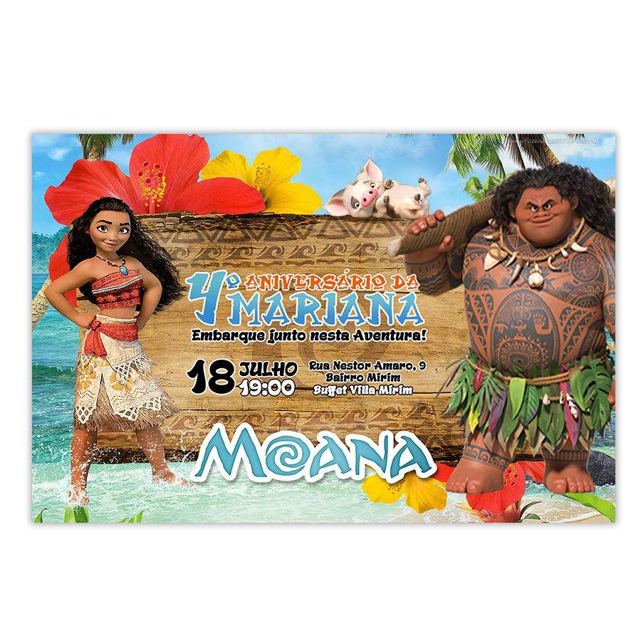 Convite Personalizado Moana