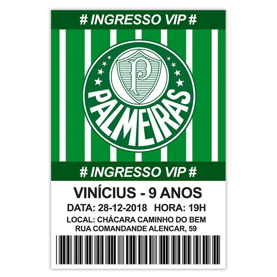 Convite Personalizado Palmeiras 15x10