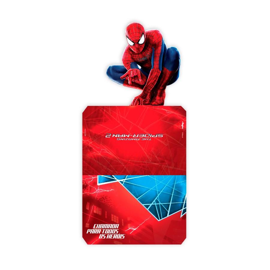 Convite Spider Homem Aranha 8Un