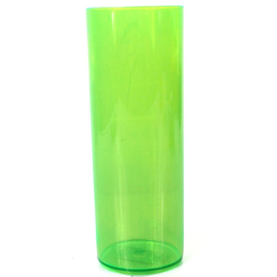 Copo Acrílico Long Drink 350Ml Verde Neon
