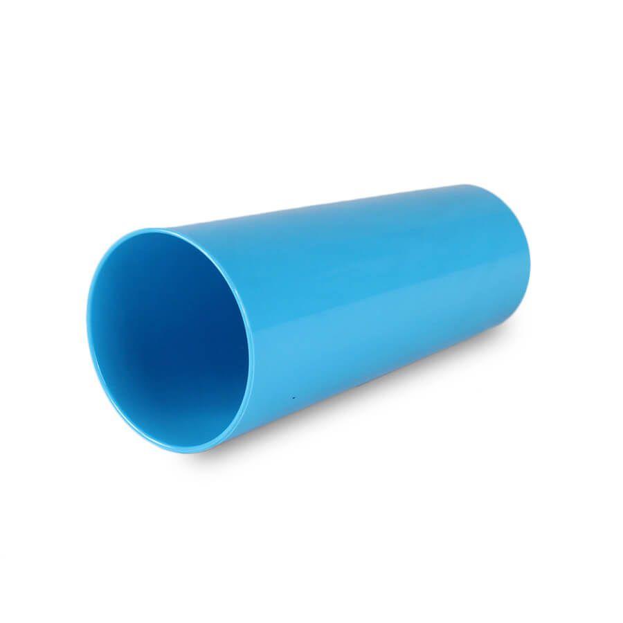 Copo Acrílico Long Drink Azul Bebê Leitoso 320ml