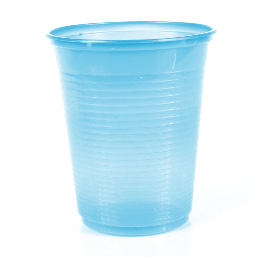 Copo Descartável 200Ml Azul Claro 50Un