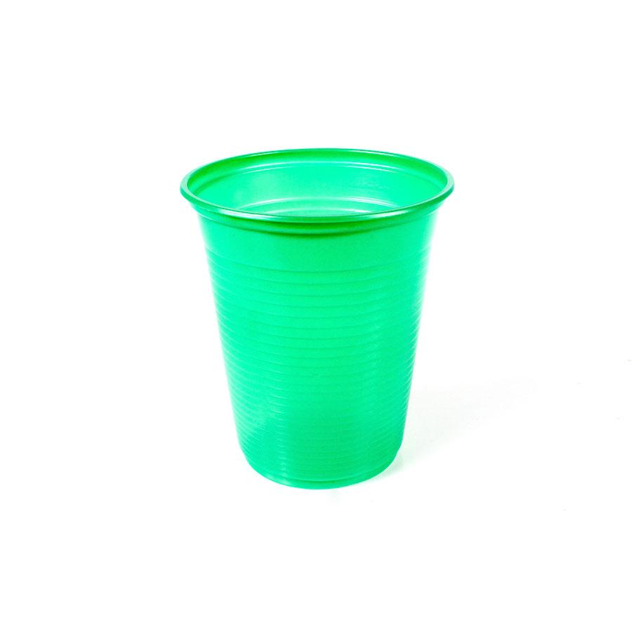 Copo Descartável 200Ml Verde Escuro 50Un