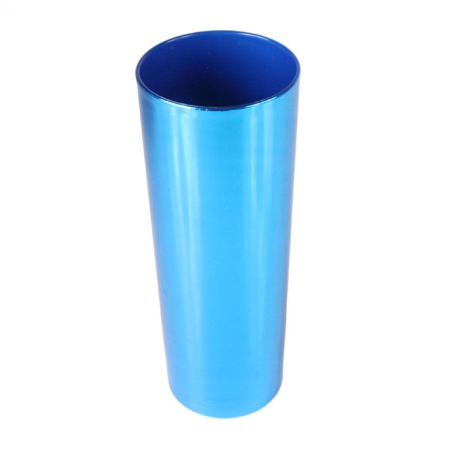 Copo Long Drink Azul Metalizado 360ml