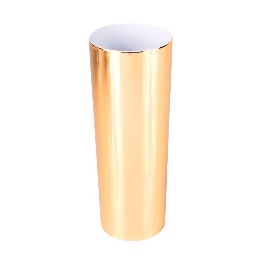 Copo Long Drink Dourado com Interior Branco 360ml