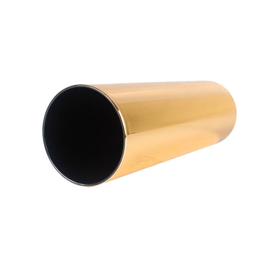 Copo Long Drink Dourado com Interior Preto 360ml