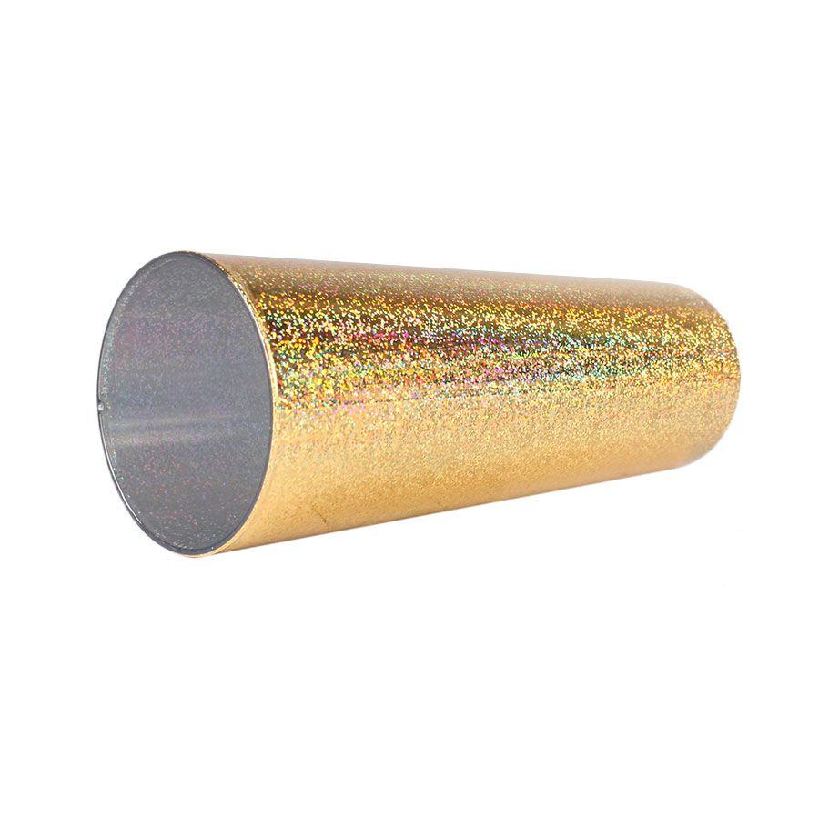 Copo Long Drink Holográfico Dourado 360ml