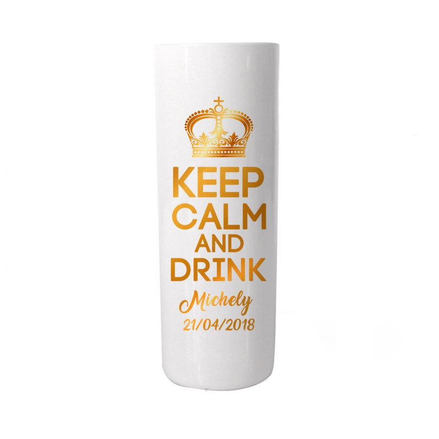 Copo Long Drink Personalizado Adulto Keep Calm