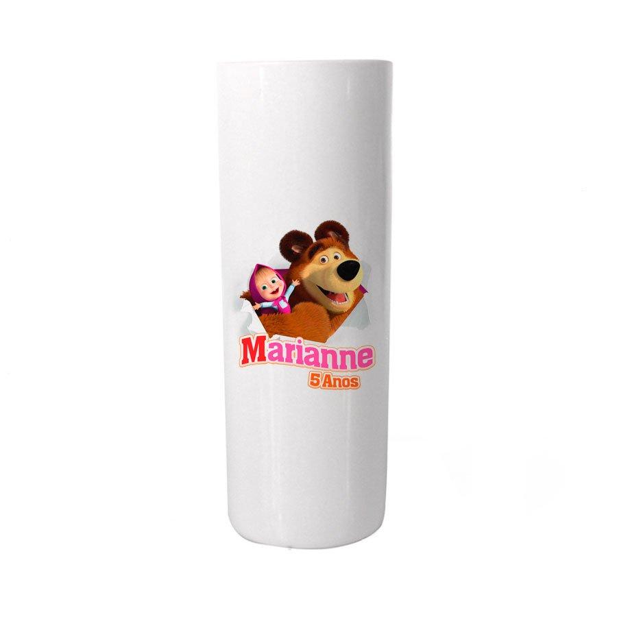 Copo Long Drink Personalizado Masha e o Urso Colorido