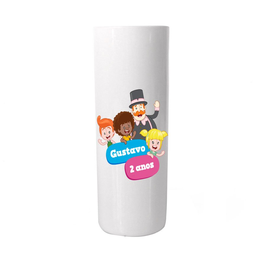 Copo Long Drink Personalizado Mundo Bita Colorido