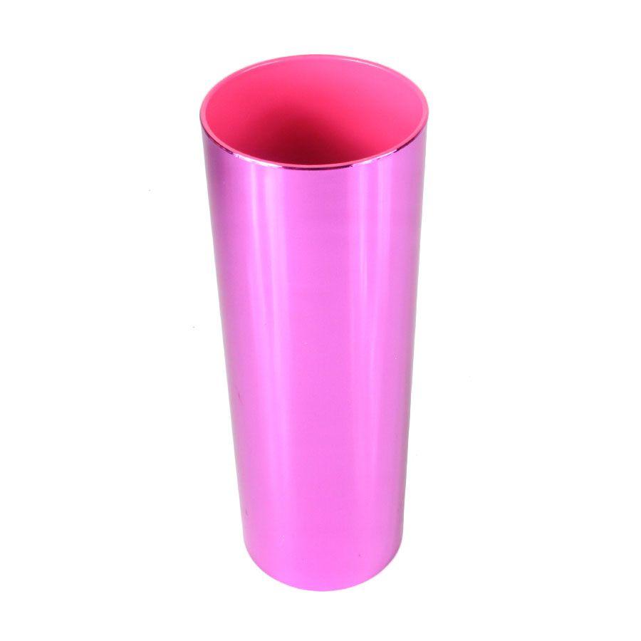 Copo Long Drink Pink Metalizado 360ml