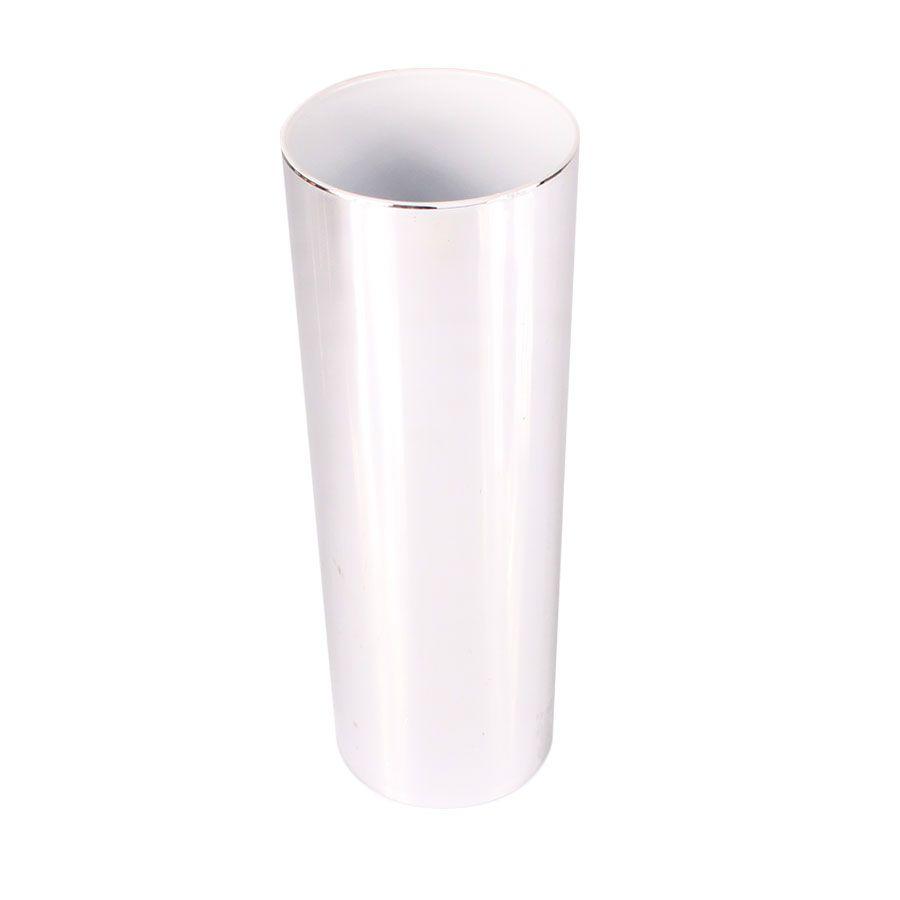 Copo Long Drink Prata com Interior Branco 360ml