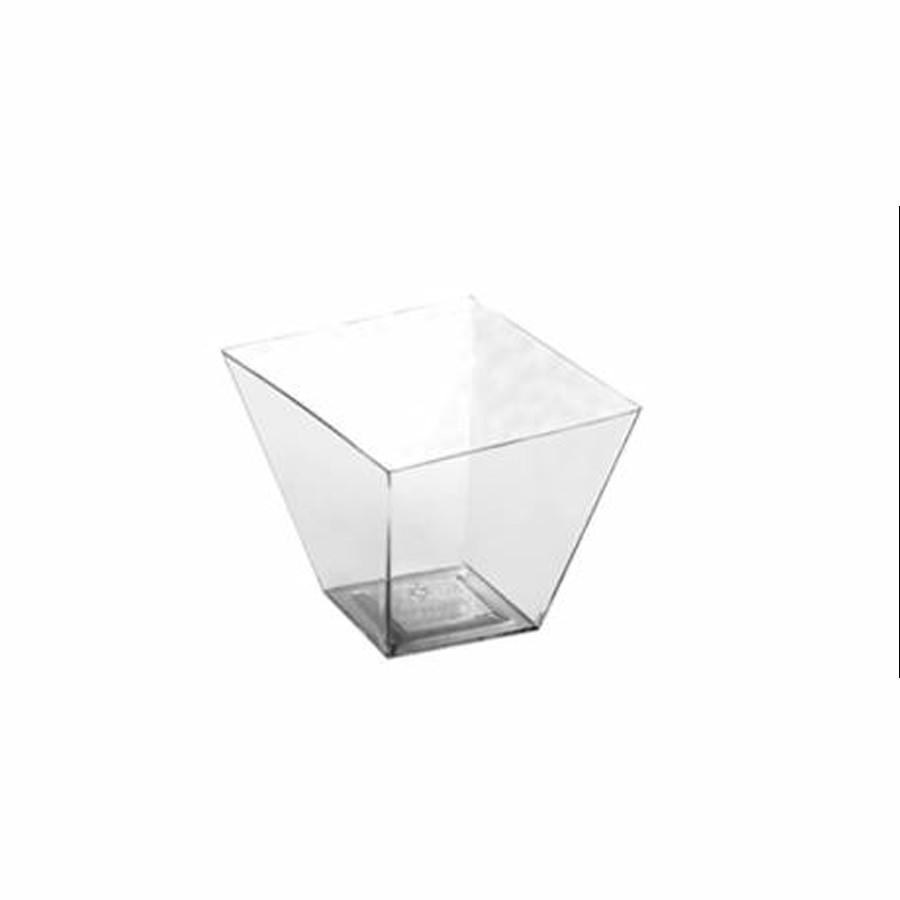 Copo Mini Quadratto Descartável 40ml - 10 unidades