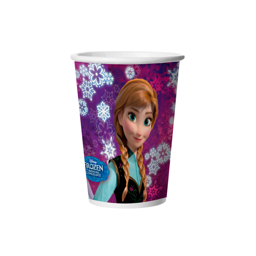 Copo Papel 180Ml Frozen 8Un