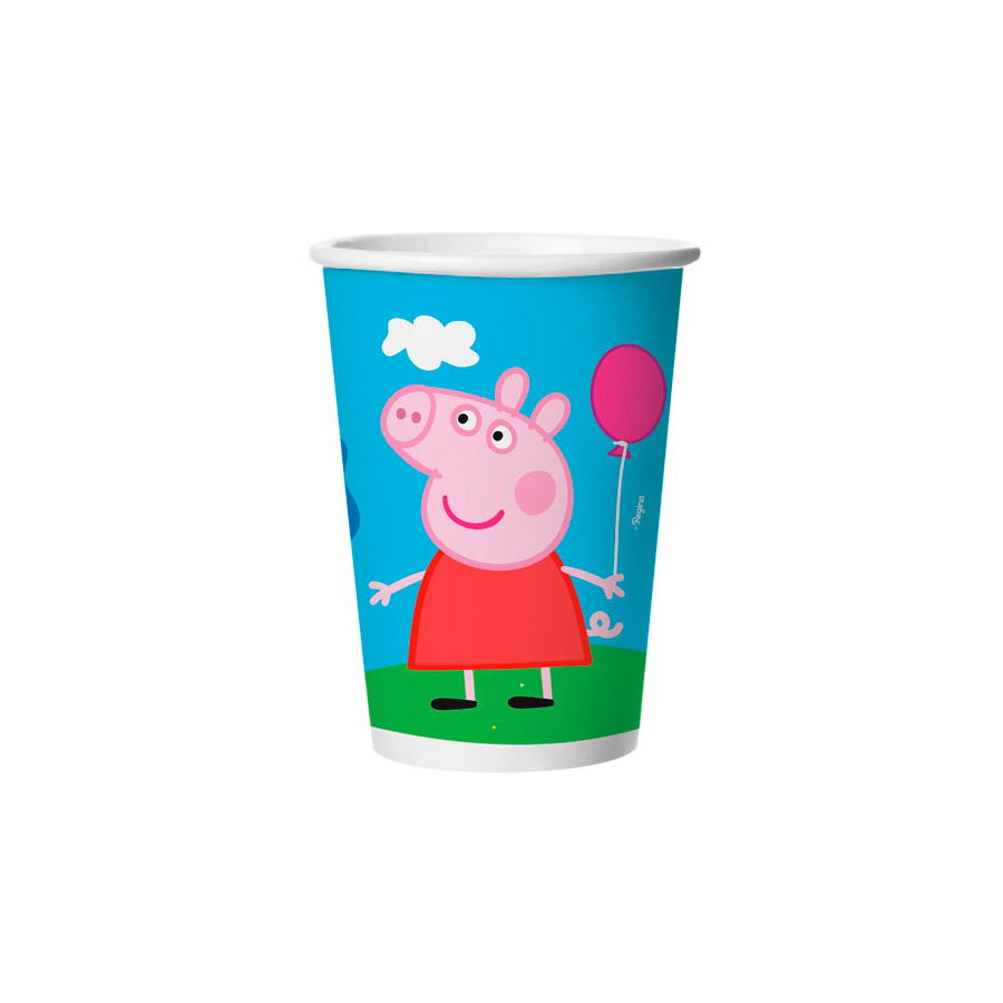 Copo Papel 180Ml Peppa 8Un