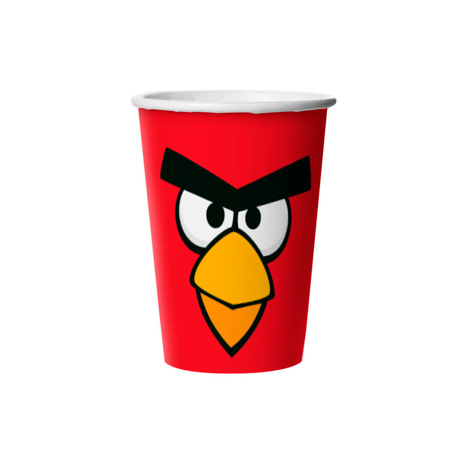 Copo Papel 330Ml Angry Birds 8Un