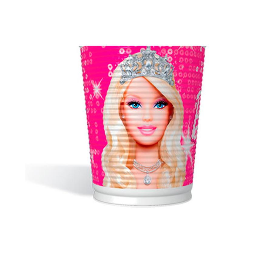 Copo Plástico 200Ml Barbie 8Un