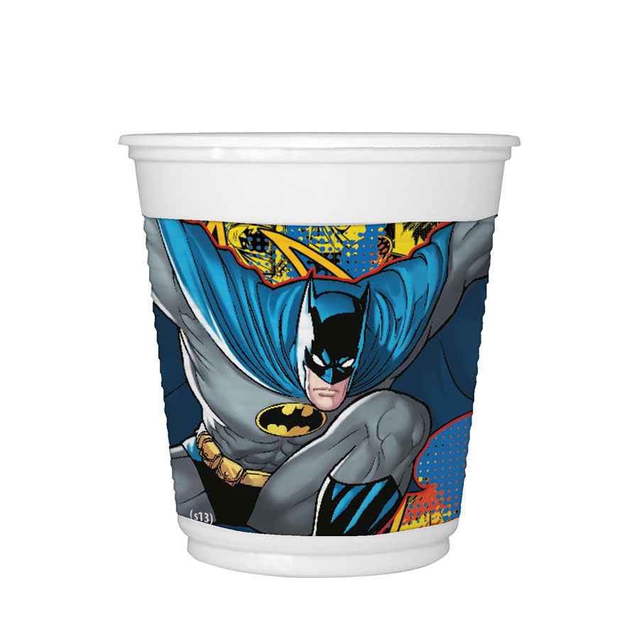 Copo Plástico 200Ml Batman 8Un