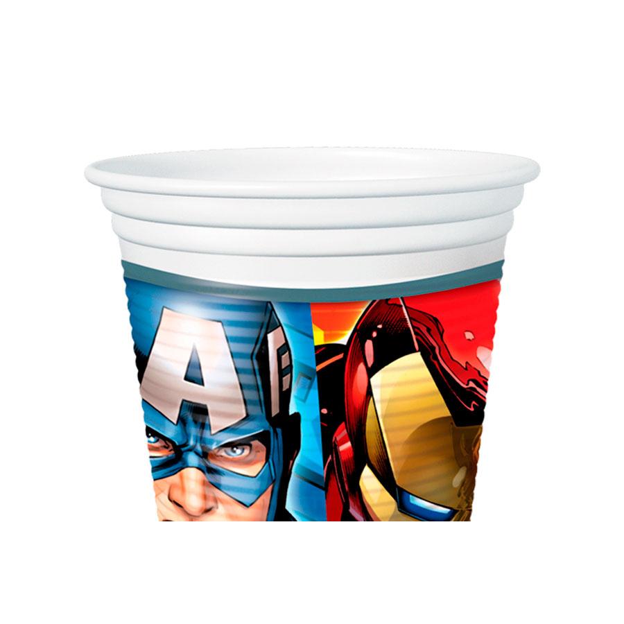 Copo Plástico 200Ml Vingadores Avengers 8Un
