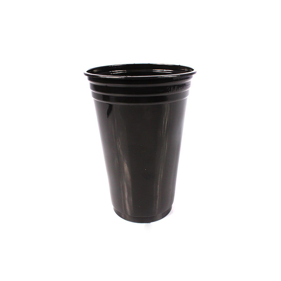 Copo de Plástico para Festa 300ml Preto - 25 Unidades
