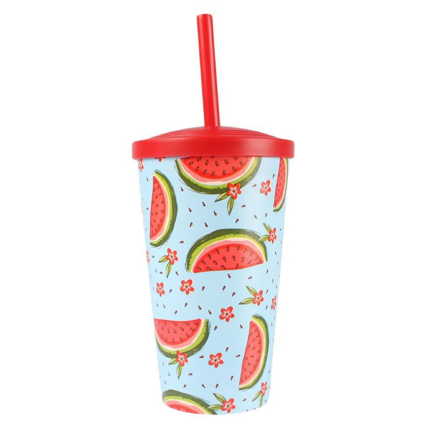 Copo Plástico Tropical Melancia 550ml