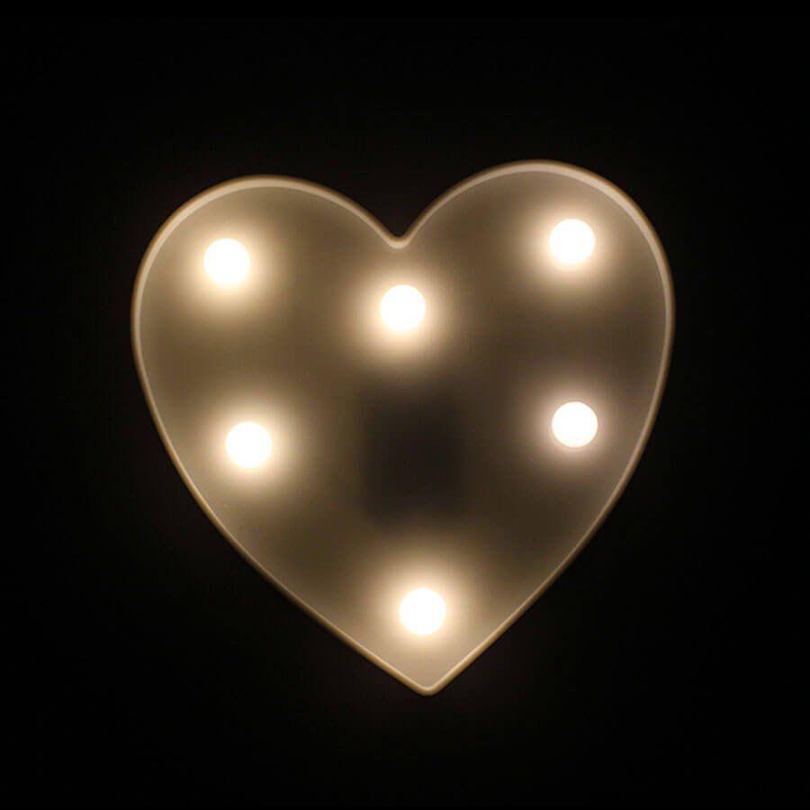 Coração em Led Luminoso Branco
