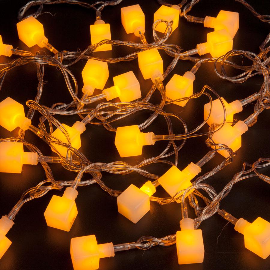 Cordão 30 Leds 3M Cubos 8 Funções Amarelo - Aluá Festas d9b9272cfd