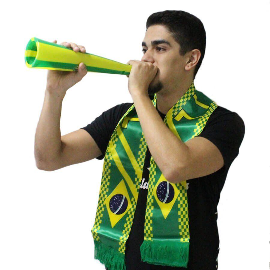 Corneta Listrada Verde e Amarela Brasil