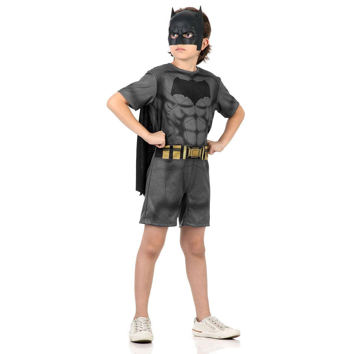 Fantasia Batman Curto com Musculatura