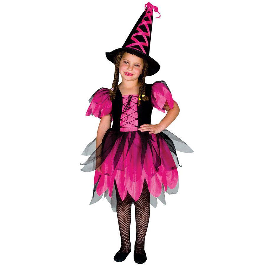 Fantasia de Halloween Bruxa Infantil com Chapéu