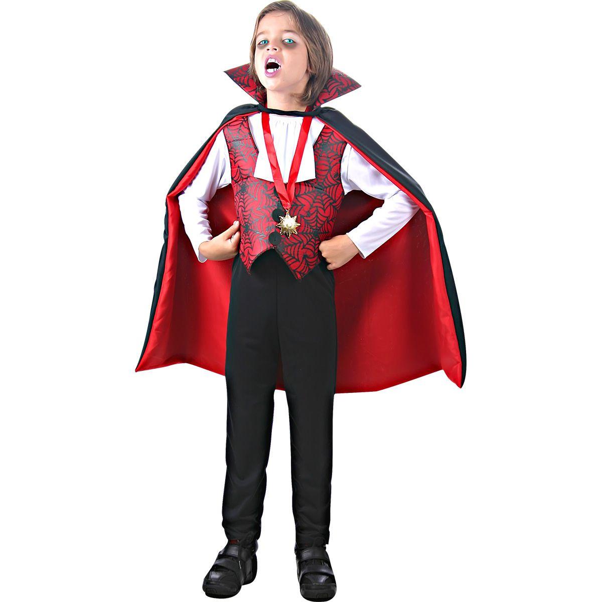 Fantasia Conde Drácula com Medalha