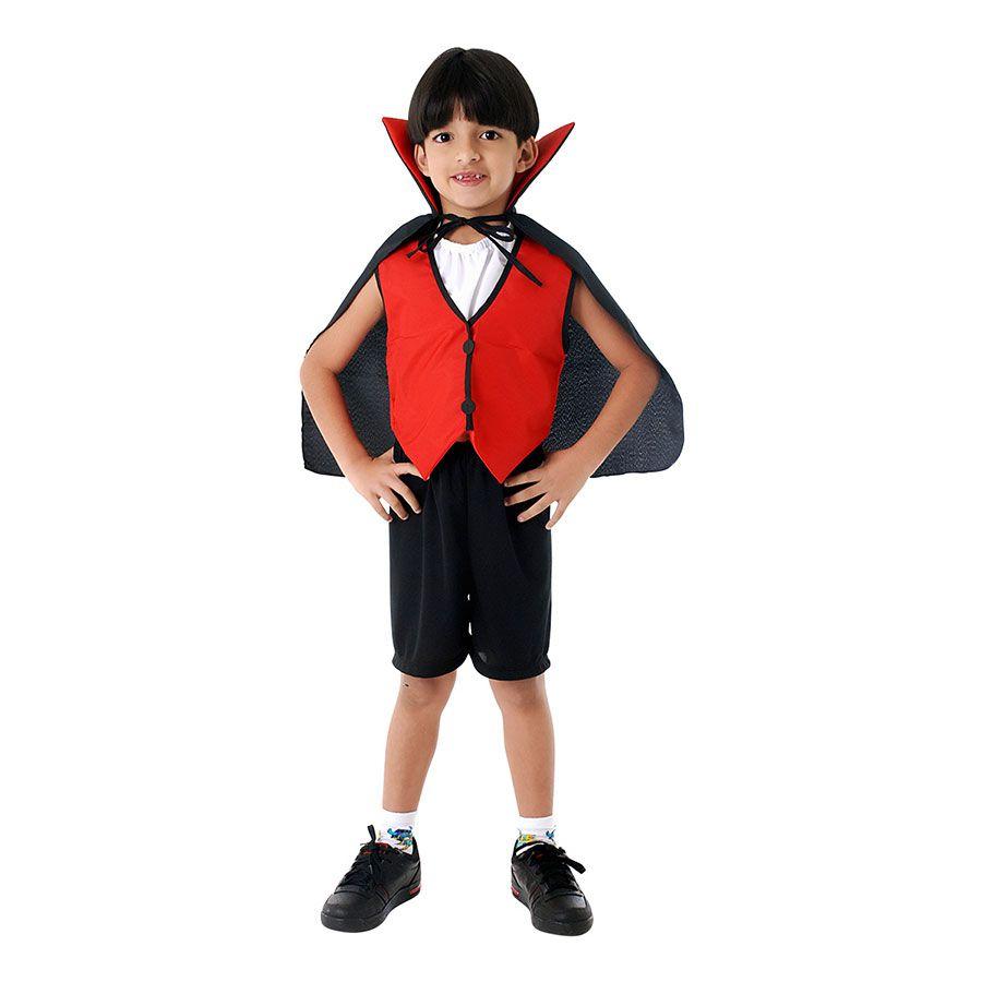 Fantasia Drácula Infantil com Capa