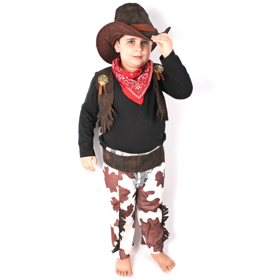 Famosos Fantasia Infantil Cowboy - Aluá Festas ZC33