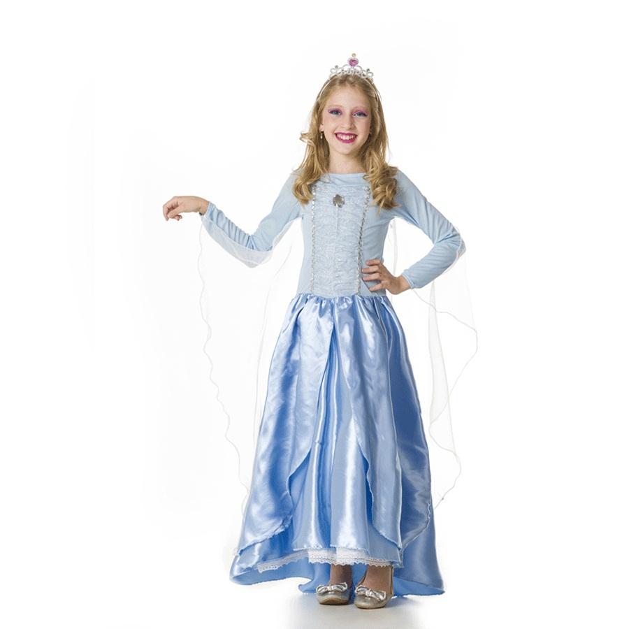 Fantasia Infantil Vestido Elsa Frozen