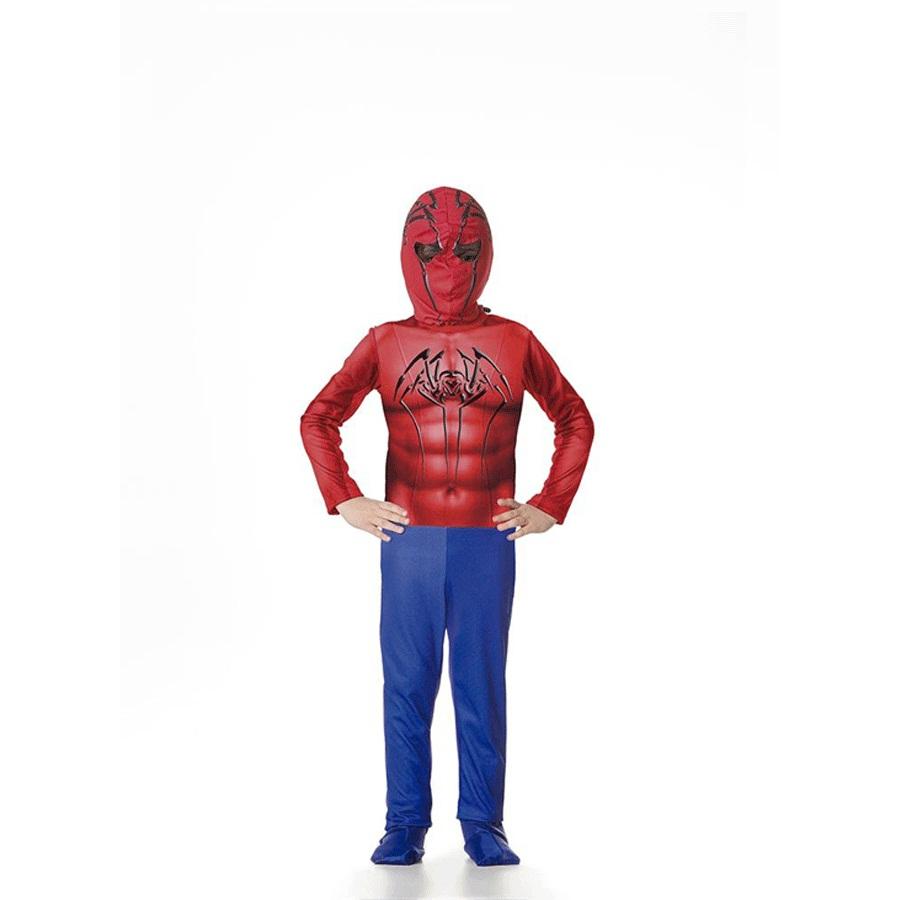 Fantasia Infantil Macacão Homem-Aranha com Máscara