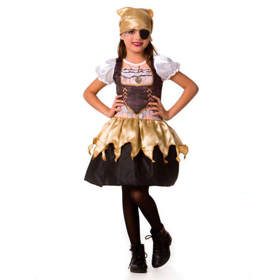 50b23737b43182 Fantasia Infantil Menina Pirata Halloween