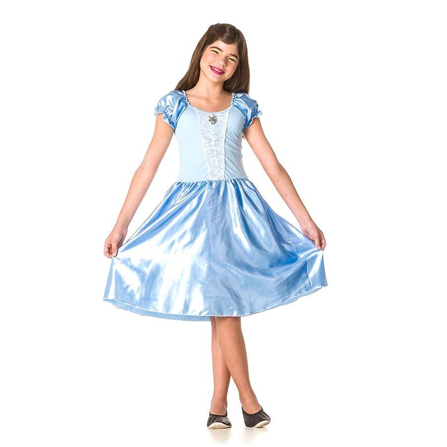 ea9549bc43a58d Fantasia Infantil Princesa Azul - Vários Tamanhos - Aluá Festas