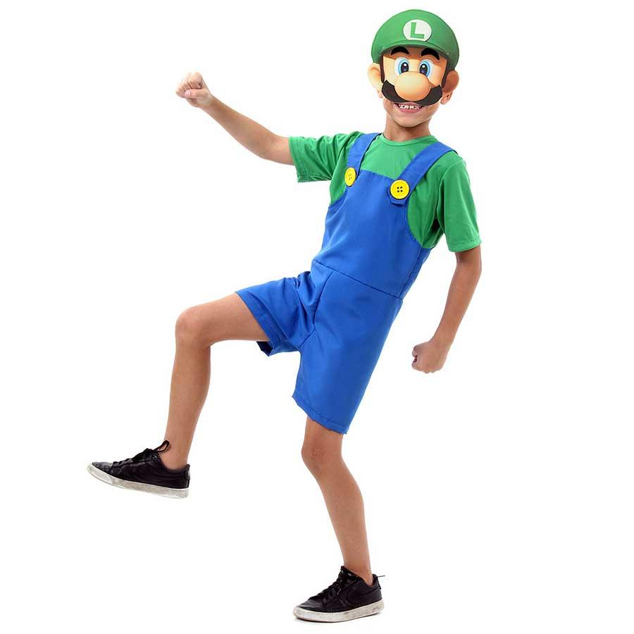 Fantasia Luigi Mario Bros Curto