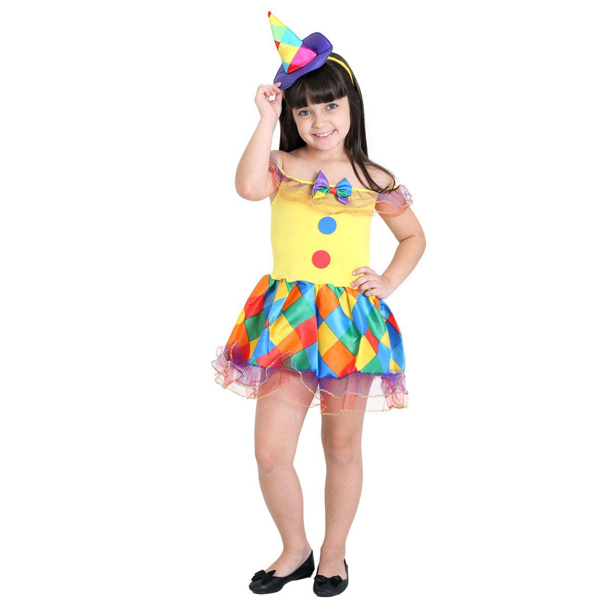 Fantasia Palhacinha Infantil com Chapéu