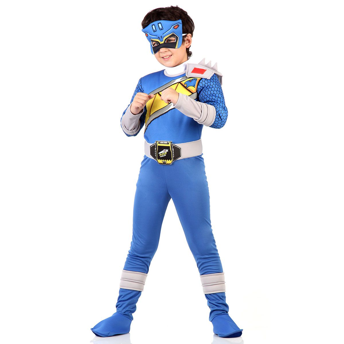 e76b2a592286ee Fantasia Power Rangers Dino Charge Azul Luxo - Aluá Festas