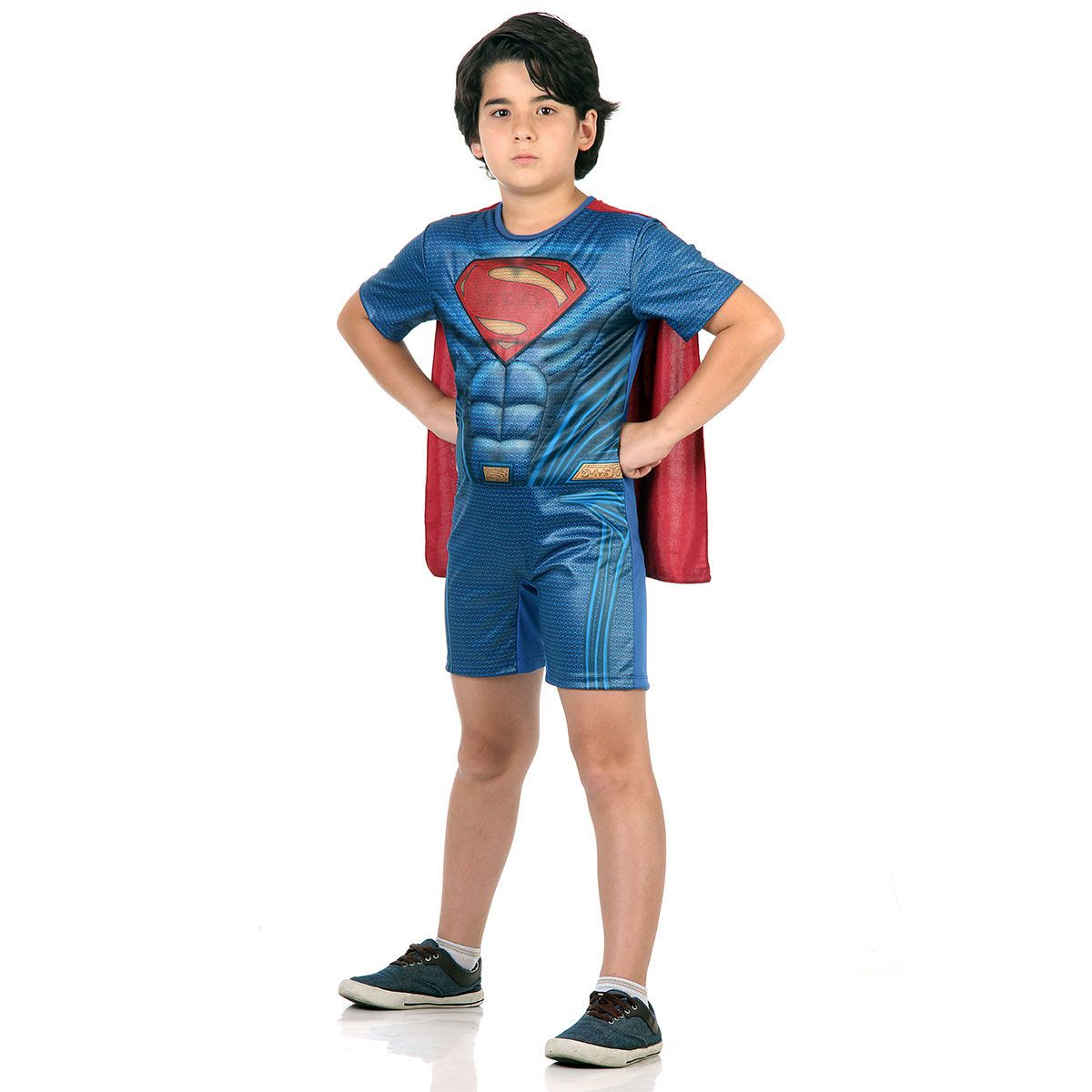 Fantasia Super-Homem Infantil com Capa